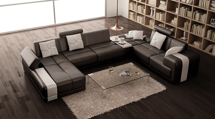Modern U Shaped Sectional Sofas Intended For Preferred New Ideas U Shaped Sectional Sofa With Modern Contemporary U (View 5 of 10)