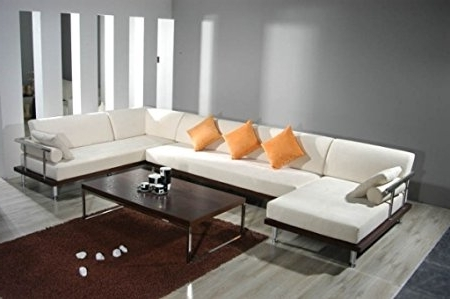 Modern U Shaped Sectionals Pertaining To Fashionable Andrea Modern U Shaped Sofa: Amazon.co (View 3 of 10)