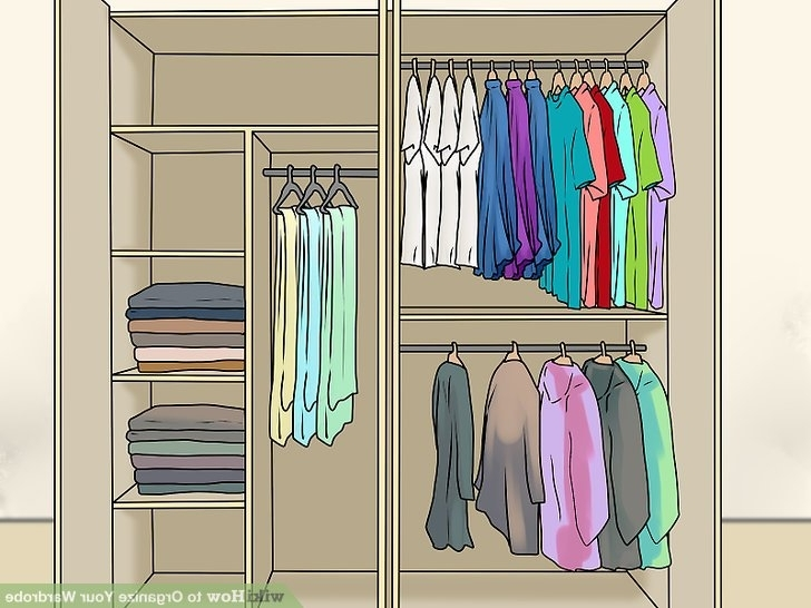 Most Current 3 Ways To Organize Your Wardrobe – Wikihow In Where To  Wardrobes (View 6 of 15)