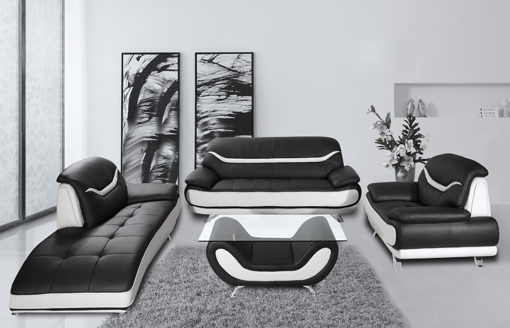 Most Current Black And White Sofas Intended For Tremendeous Black And White Leather Furniture Audi Bentley Of (View 8 of 10)