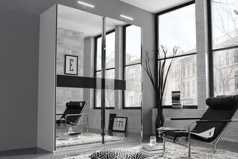 Most Current Buy Rauch Bayamo Sliding Wardrobe With Mirror Front – Cfs Uk With Regard To Mirror Wardrobes (View 8 of 15)