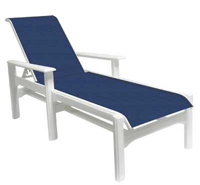 Most Current Cape Coral Marine Grade Polymer Sling Furniture Inside Commercial Grade Chaise Lounge Chairs (View 8 of 15)