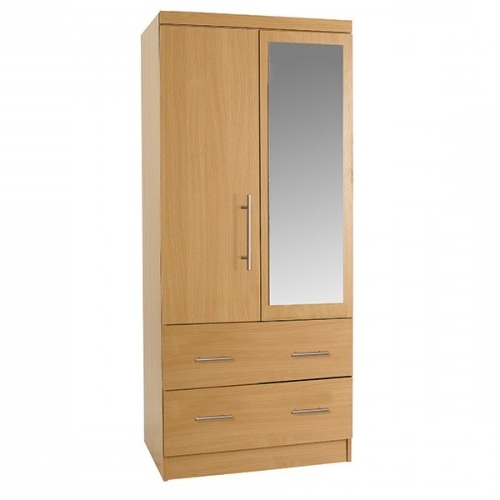 Most Current Combi Wardrobes With Regard To 2 Drawer Combi Wardrobe With Mirror (View 14 of 15)