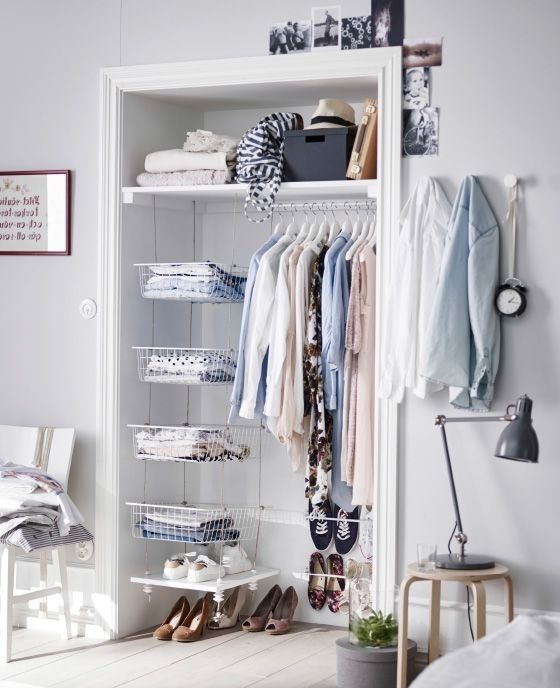 Most Current Double Up Wardrobes Rails In Turn An Alcove Into A Storage Area With A Clothes Rail, Shelf And (View 14 of 15)