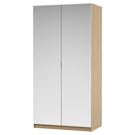 Most Current Double Wardrobes For Housejohn Lewis Mix It Mirrored Double Wardrobe, Natural Oak (View 12 of 15)