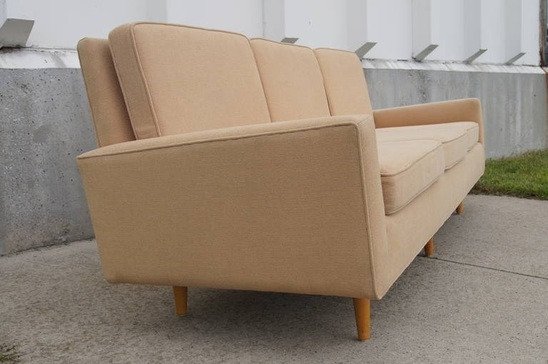 Most Current Florence Knoll Wood Legs Sofas Intended For Three Seater Sofaflorence Knoll At 1Stdibs (View 7 of 10)