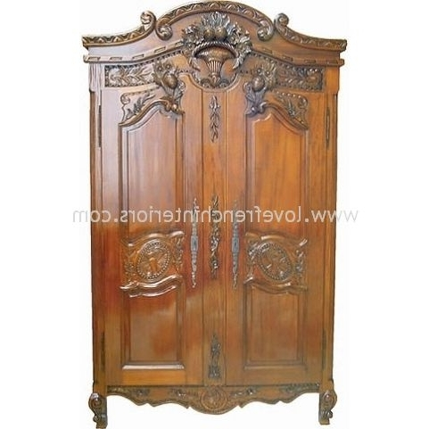 Most Current French Armoires Wardrobes In French Armoire Wardrobes – Kwameanane (View 9 of 15)