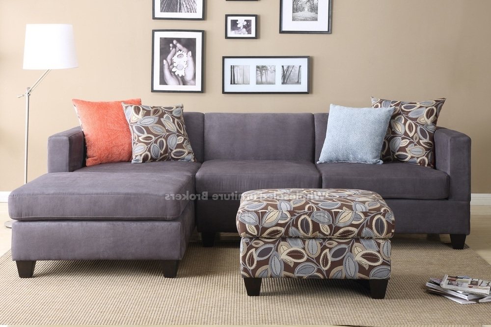 Most Current Grey Sofa Chaises With Regard To Sectional Sofa Design: Elegant Fabric Sectional Sofa With Chaise (View 9 of 15)
