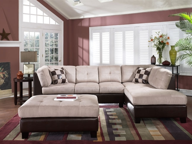 Most Current Large Sectional Sofa With Ottoman Living Room (View 7 of 10)