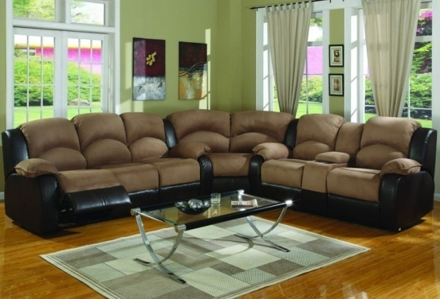 Most Current Leather And Suede Sectional Sofas With Sofa Beds Design: Breathtaking Traditional Suede Sectional Sofas (View 7 of 10)