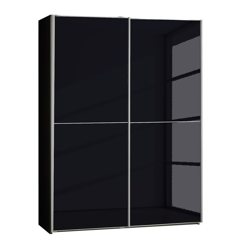 Most Current Miami Black Sliding Door Wardrobewiemann. Large Black Wardrobes (View 10 of 15)