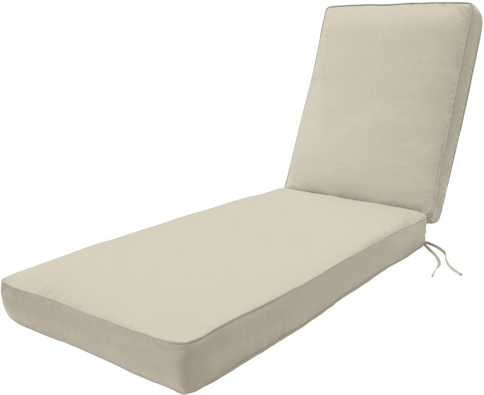 Most Current Outdoor Chaise Lounge Cushions For Wayfair Custom Outdoor Cushions Double Piped Outdoor Chaise Lounge (View 9 of 15)