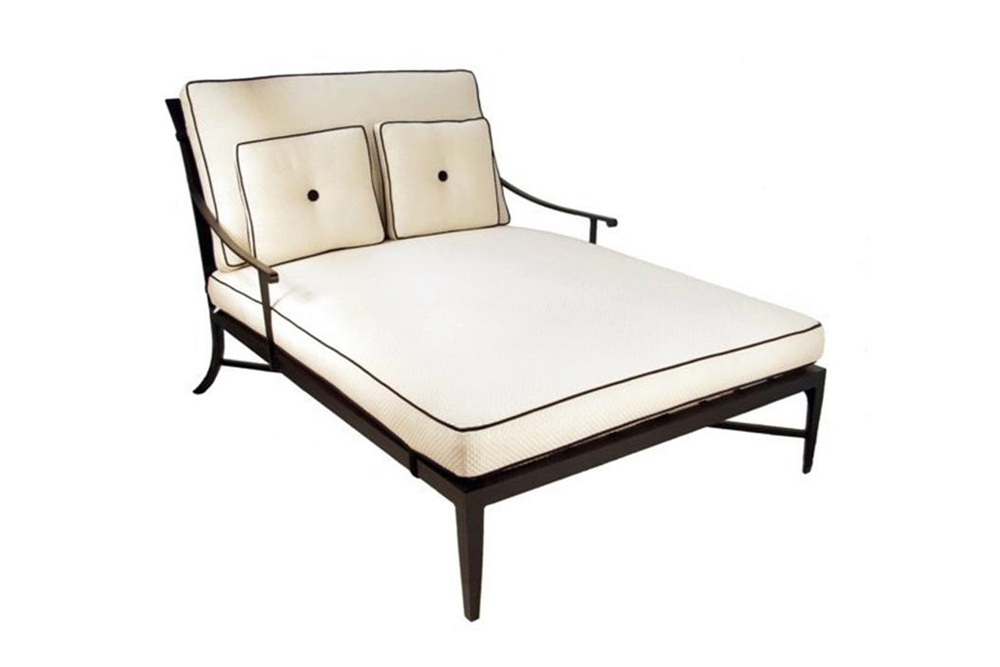 Most Current Outdoor Double Chaises Pertaining To Kreiss Montoro Double Chaise Lounge Double Chaise Lounge Outdoor (View 6 of 15)