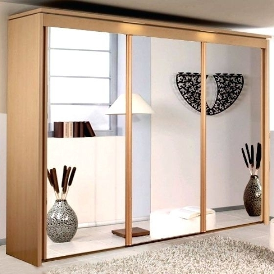 Most Current Rauch Imperial Beech 3 Door Sliding Wardrobe, 3 Mirrors W 225Cm For Rauch Imperial Wardrobes (View 7 of 15)