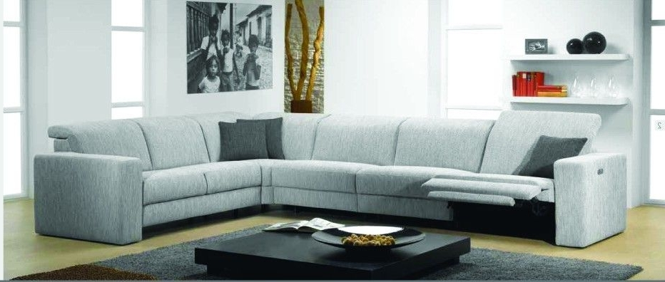 Most Current Sectional Sofas With Electric Recliners With Regard To Artemis Fabric Sectional Sofa With Electric Reclinerrom (View 2 of 10)