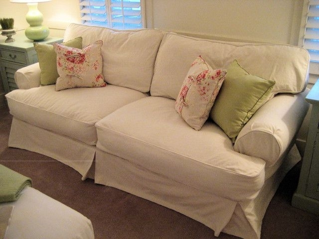Most Current Shabby Chic Sofas With Regard To Shabby Chic Sofas And Shabby Chic Cottage Slipcovered Sofa (View 4 of 10)