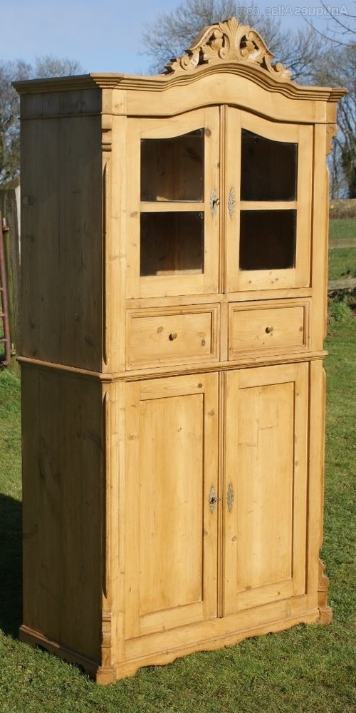 Most Current Single Pine Wardrobes With Regard To A Fine German Pine Kitchen Cupboard Dressrer – Antiques Atlas (View 7 of 15)
