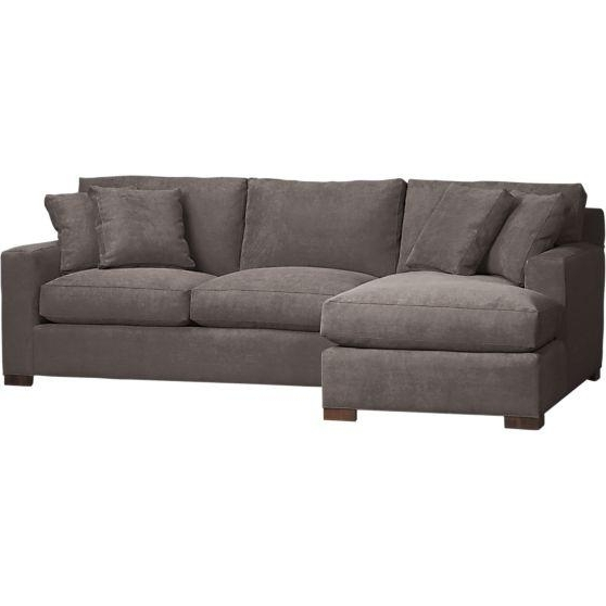 Most Current Sofas With Chaise Lounge In 2 Piece Left Arm Chaise Sectional In Sectional Sofas – Crate And (View 10 of 15)