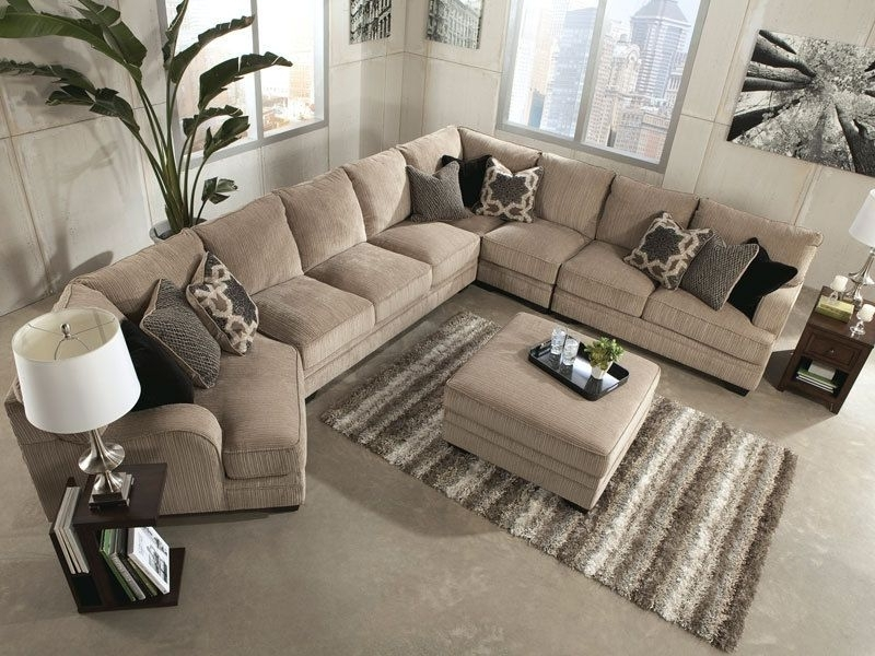 Most Current Sorento 5Pcs Oversized Modern Beige Fabric Sofa Couch Sectional Intended For Large Sectional Sofas (View 5 of 10)