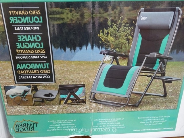 Most Current Timber Ridge Zero Gravity Lounge Chair With Regard To Chaise Lounge Chairs At Costco (View 7 of 15)