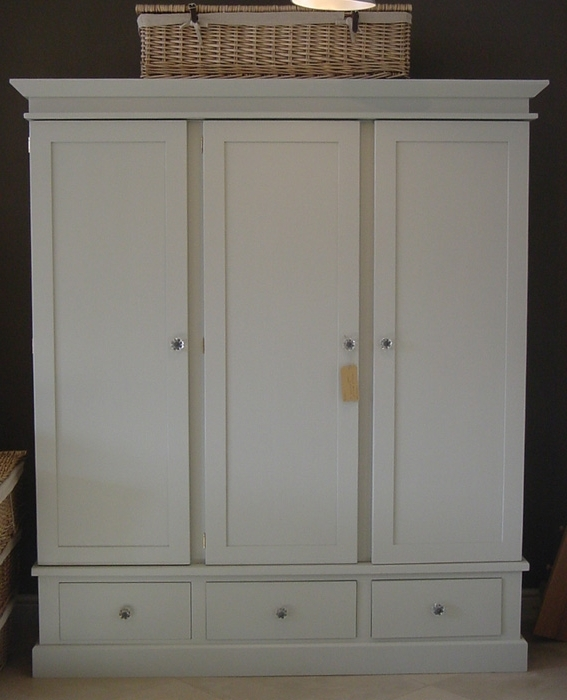 Featured Photo of Painted Triple Wardrobes