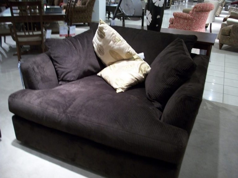 Most Current Two Person Chaise Lounges Intended For Amazing Furniture Big Comfy Oversized Black Microfiber Chaise (View 5 of 15)