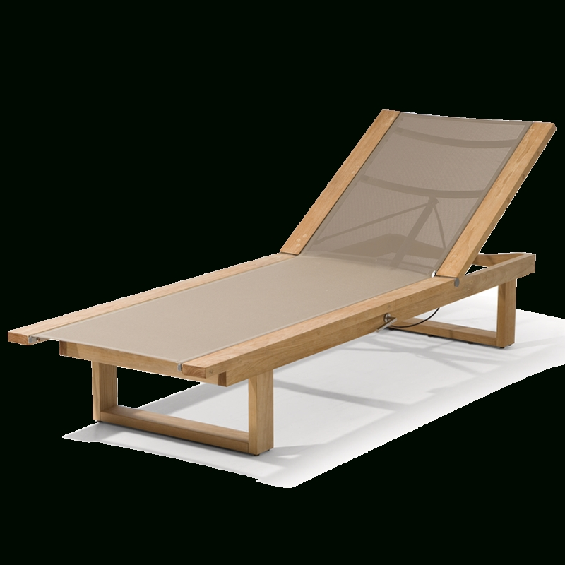Most Current Une Chaise Lounges With Manutti – Siena Teak Lounger With Textuline – Chaise Lounges (View 9 of 15)