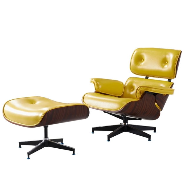 Most Current Yellow Chaise Lounge Chairs Pertaining To Mid Century Modern Classic Plywood Design Replica Style Chaise (View 7 of 15)