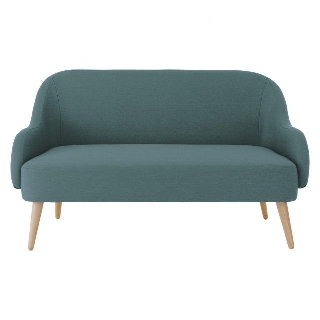 Most Popular 2 Seater Sofas With Momo Teal Blue Fabric 2 Seater Sofa (View 8 of 10)