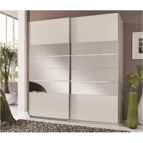 Most Popular 2 Sliding Door Wardrobes With Regard To Sophia 2 Door White Mirror Panel Sliding Wardrobe – Forever (View 10 of 15)