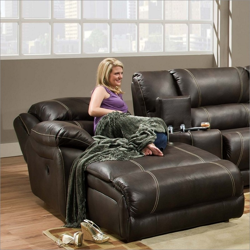 Most Popular 50660 Blackjack Bonded Leather Raf Reclining Cuddler Chaise For Reclining Chaises (View 5 of 15)