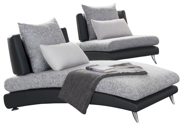 Most Popular Black Chaises Intended For Beautiful Grey Chaise Lounge Natural Ultramodern Day Beds And (View 13 of 15)