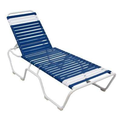 Most Popular Blue Outdoor Chaise Lounge Chairs Intended For White – Outdoor Chaise Lounges – Patio Chairs – The Home Depot (View 11 of 15)