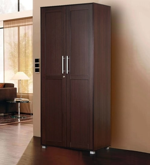 Most Popular Buy Shou Two Door Wardrobe In Wenge Finishmintwud Online For Cheap 2 Door Wardrobes (View 11 of 15)