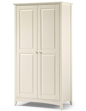 Most Popular Cameo 2 Door Wardrobes With Julian Bowen Cameo 2 Door Wardrobe, Stone White: Amazon.co (View 8 of 15)