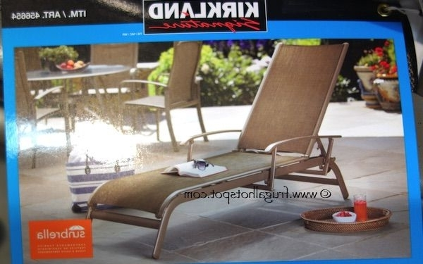 Most Popular Chaise Lounge Chairs At Costco Throughout Kirkland Signature Commercial Sling Chaise Lounge (View 8 of 15)