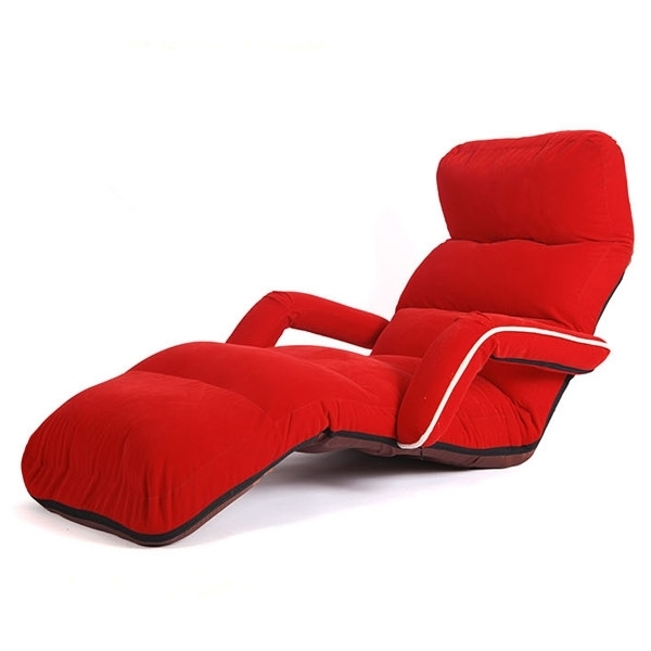 Most Popular Chaise Lounge Chairs For Bedroom Adjustable Foldable Soft Suede Regarding Soft Sofas (View 3 of 10)