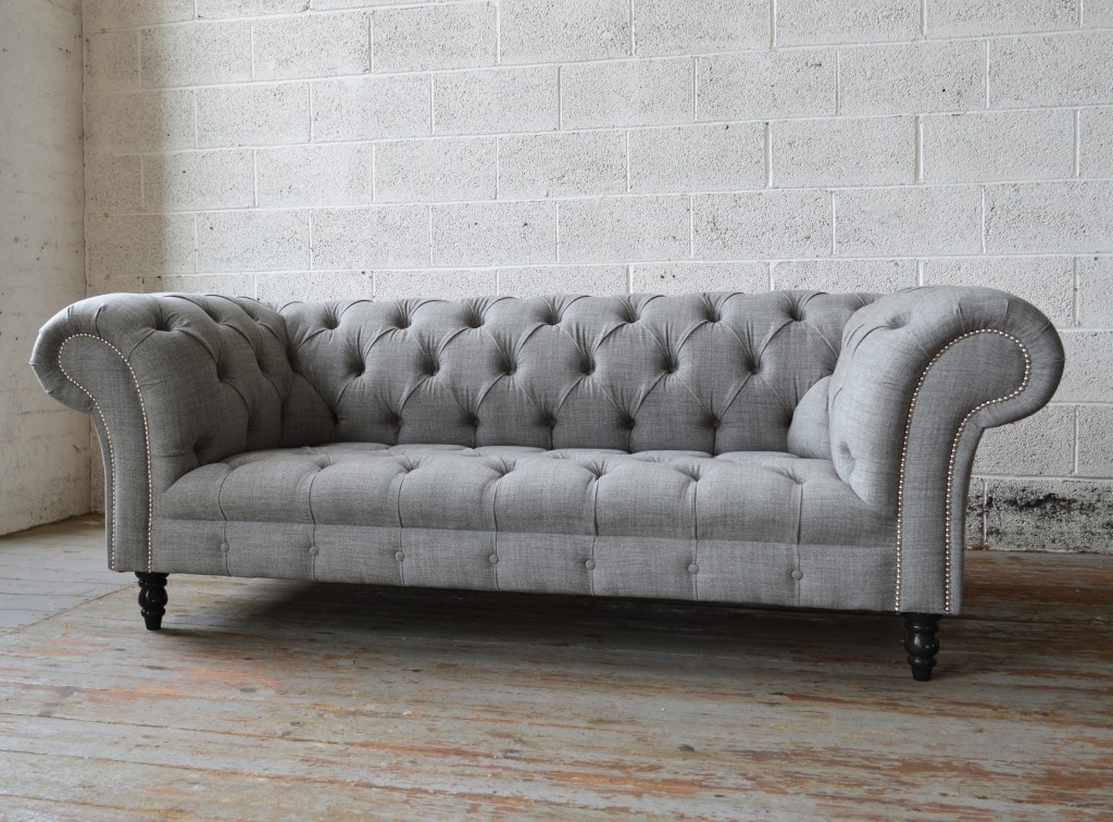 Most Popular Chesterfield Sofas Pertaining To Romford Wool Chesterfield Sofa (View 2 of 10)
