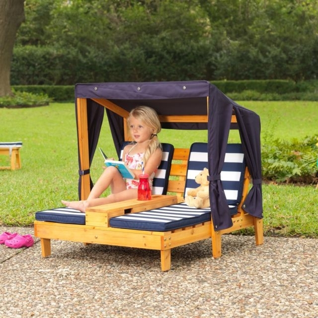 Most Popular Children Chaise Lounge Outdoor Patio Pool Garden Set Double Chair Intended For Children's Outdoor Chaise Lounge Chairs (View 3 of 15)