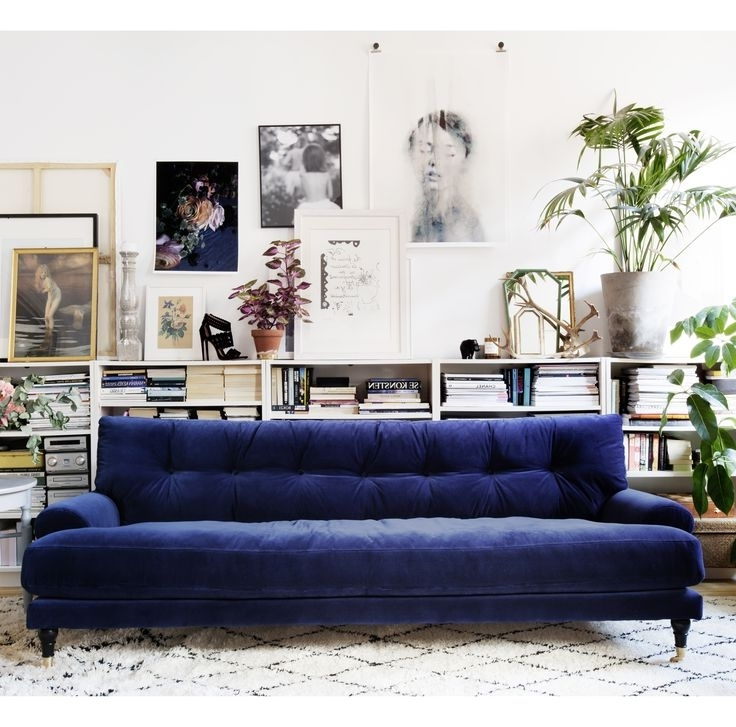 Most Popular Dark Blue Sofas Regarding Awesome Dark Blue Sofa 24 With Additional Modern Sofa Ideas With (View 7 of 10)