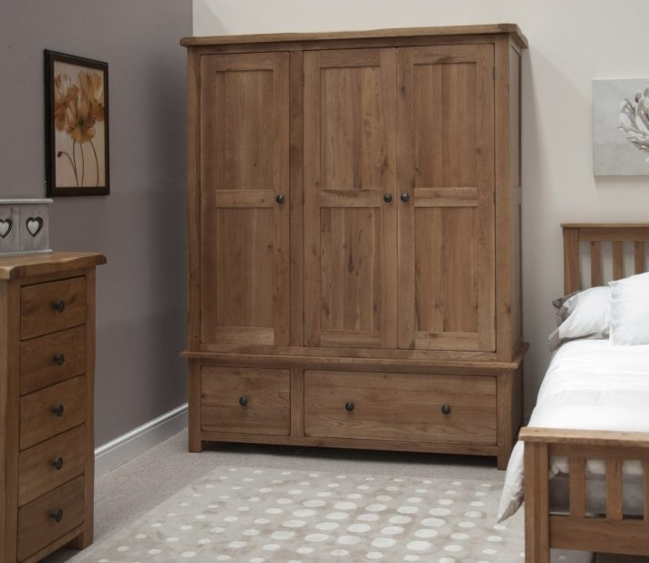 Most Popular Dark Wood Wardrobes With Drawers Intended For Solid Wood Wardrobe Doors Wardrobes Sale Cheap Fitted With Drawers (View 11 of 15)