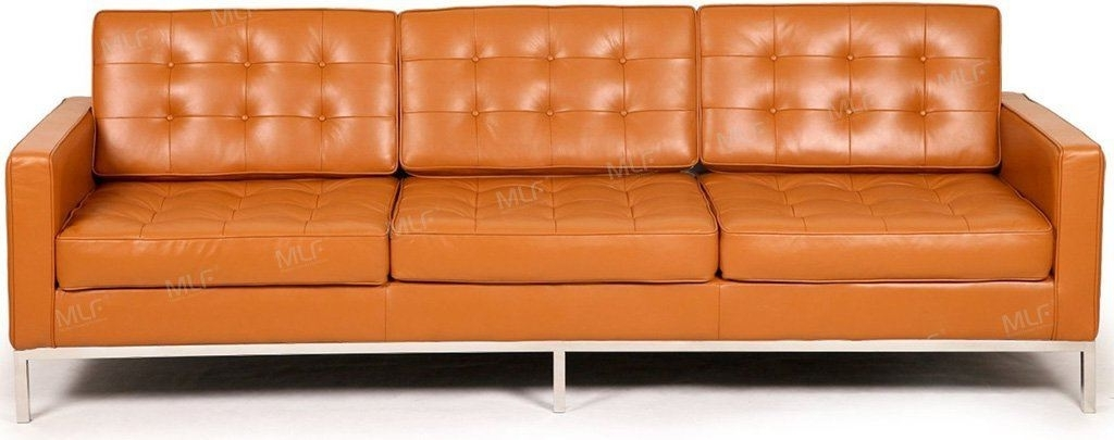 Most Popular Florence Leather Sofas In Mlf Florence Knoll Style Couches And Sofas Armchair Loveseat (View 5 of 10)