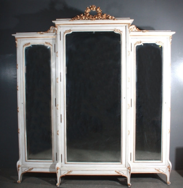 Most Popular French Armoires And Wardrobes With Regard To French Louis Armoire Wardrobe Large Carved Gilt J5727 For Sale (View 11 of 15)