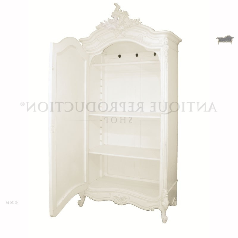 Most Popular French Provincial Armoire Wardrobe Antique White – Antique Intended For French White Wardrobes (View 8 of 15)