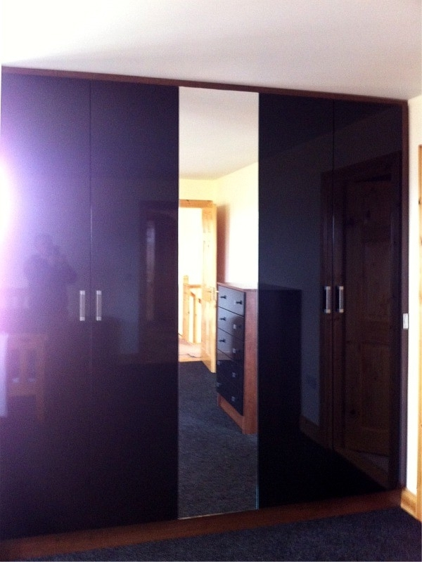 Most Popular Gloss Black Wardrobes For Gloss Sliding Wardrobes With Mirrors, Letterkenny – Fitted (View 8 of 15)