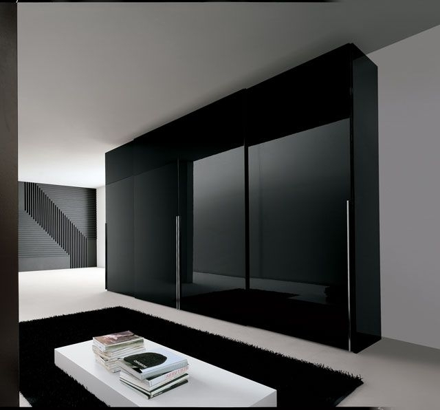 Most Popular Gloss Black Wardrobes With Fabulous Black Wardrobe With Drawers (View 4 of 15)