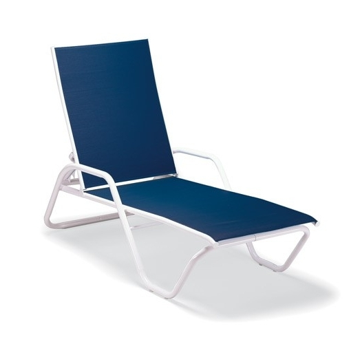 Most Popular Incredible Four Seasons Courtyard Concord Sling Chaise Lounge Inside Blue Outdoor Chaise Lounge Chairs (View 13 of 15)