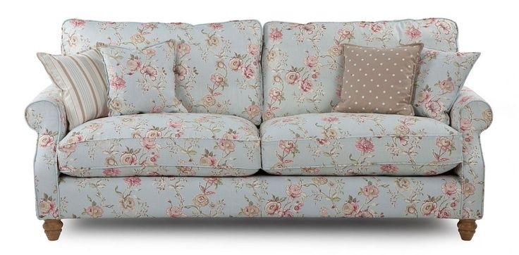 Most Popular Inspiration Idea Shab Chic Sofas With Sofa Country Stylefloral Pertaining To Shabby Chic Sofas (View 2 of 10)