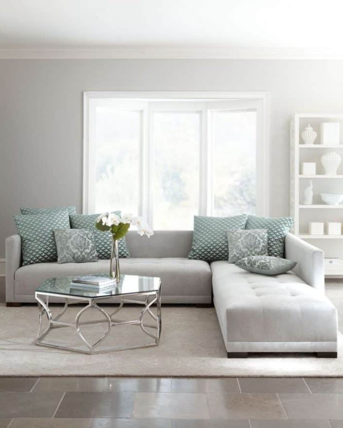 Most Popular Light Grey Sectional Sofas Throughout Living Room With Light Grey Sectional Sofa – Ways To Move A (View 8 of 10)