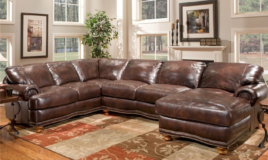 Most Popular Made In Usa Sectional Sofas Regarding Large Leather Sectional Sofas Made In Usa Or Italy (View 3 of 10)